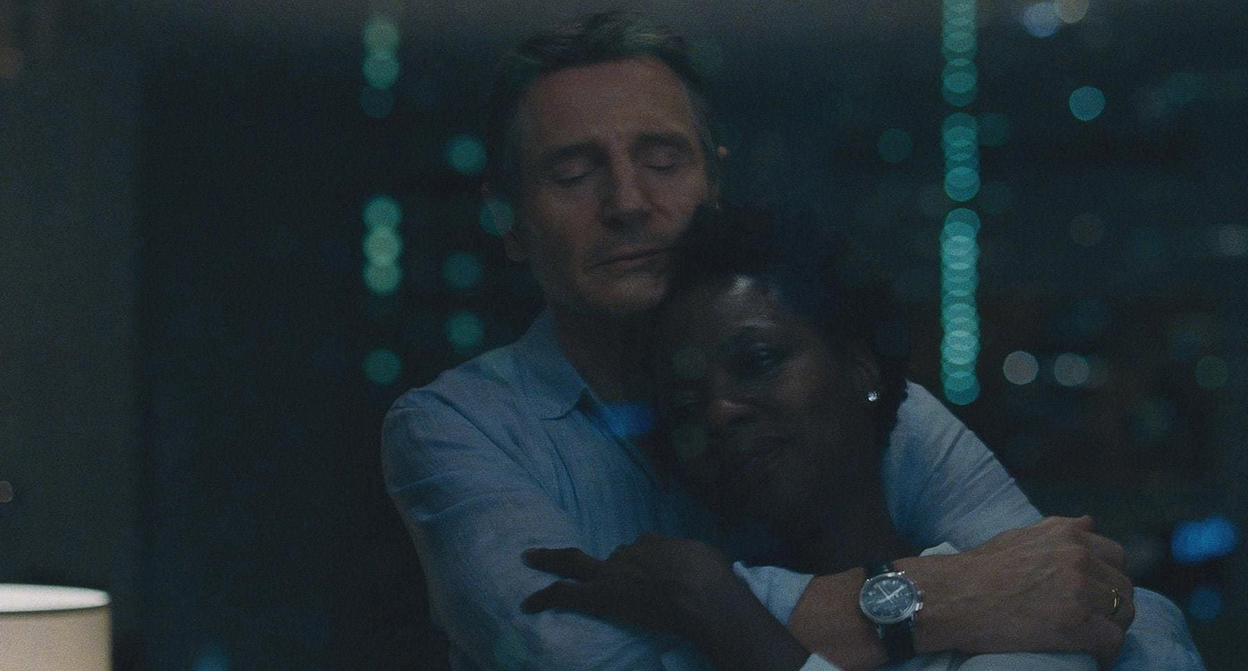 "Liam Neeson and Viola Davis in ""Widows"""