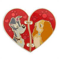 Image of Lady and the Tramp ''Broken Heart'' Pin Set # 1