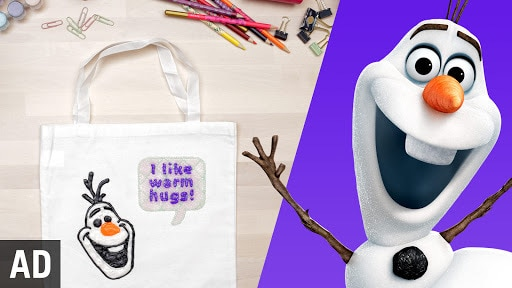 Olaf Tote Bag | Disney DIY