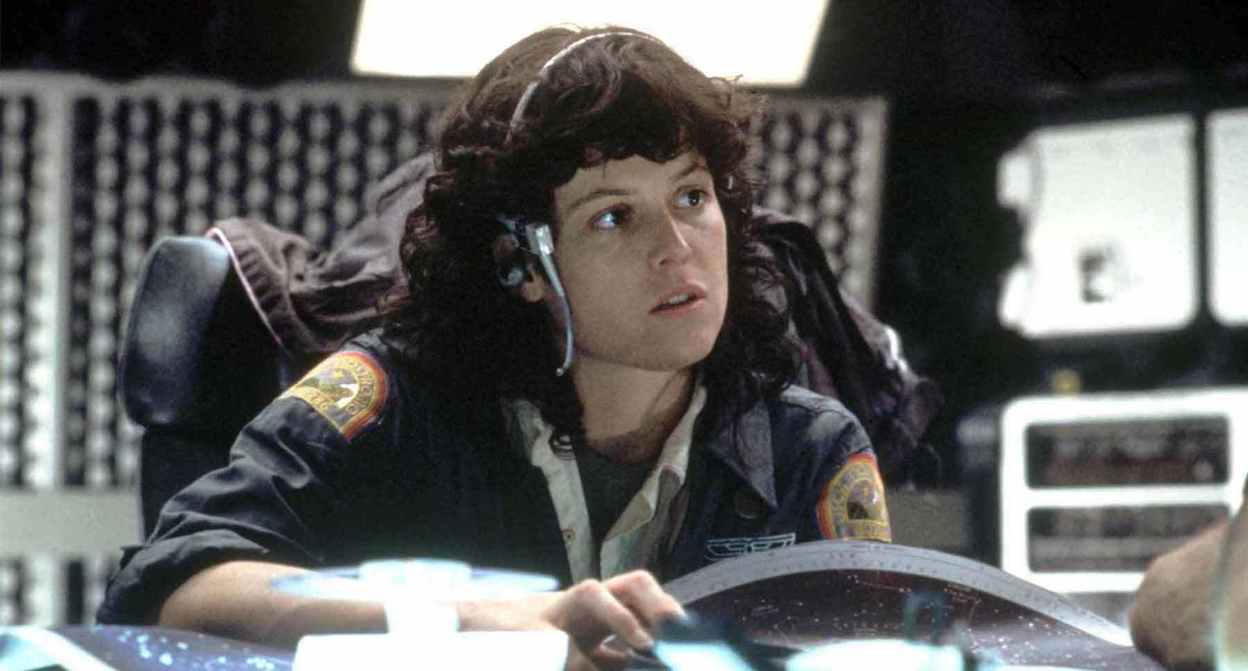 "Sigourney Weaver (as Ripley) in the movie ""Alien"""