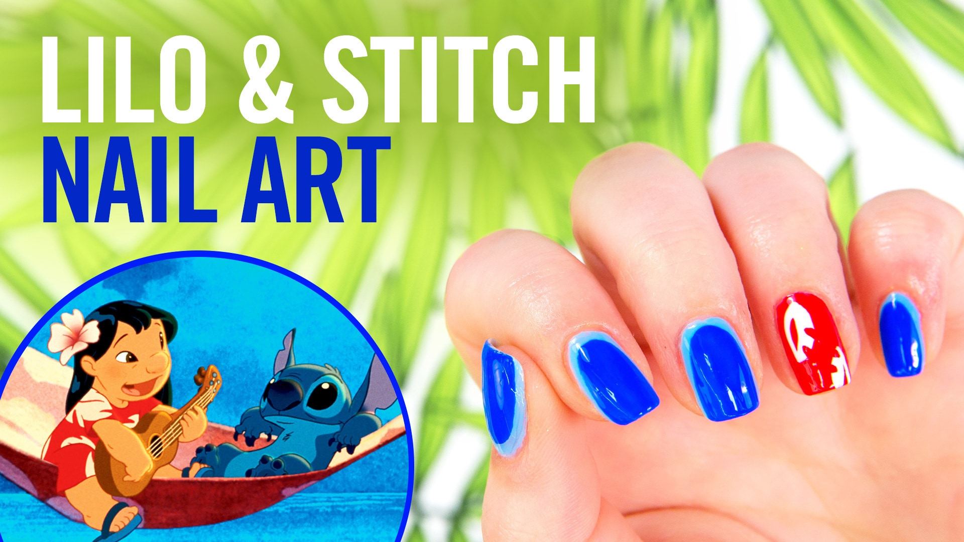 Lilo & Stitch Nail Art