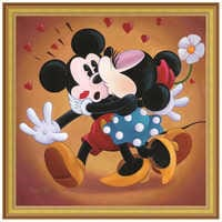Image of ''Mickey and Minnie Kissing'' Giclée by Michelle St.Laurent # 8