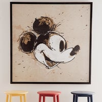 Mickey Mouse ''Abstract Mickey'' Framed Giclée on Canvas by Ethan Allen