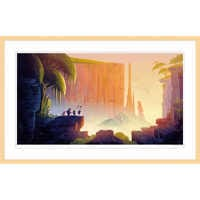Image of Up ''Tepui'' Framed Giclée on Paper by Lou Romano - Limited Edition # 1