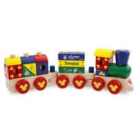 Image of Mickey Mouse Wood Blocks Stacking Train Set # 1