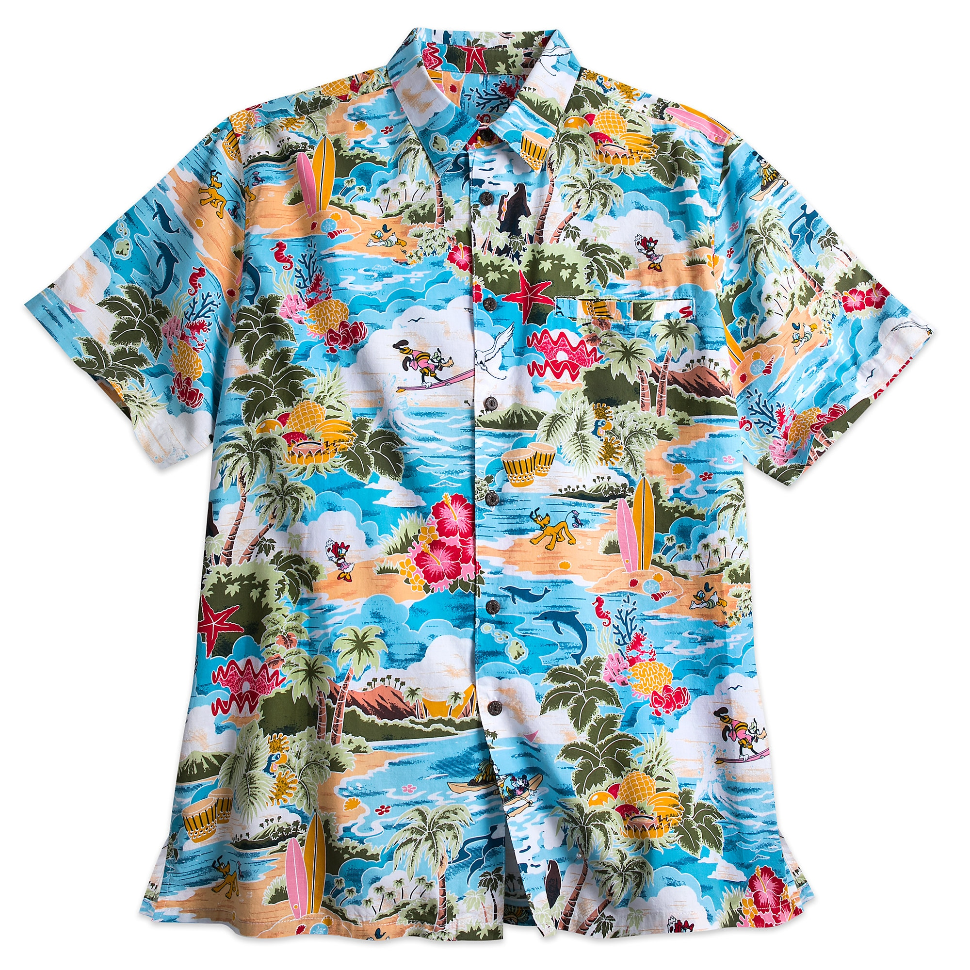 092cda5f Mickey Mouse and Friends Hawaiian Shirt for Men | shopDisney