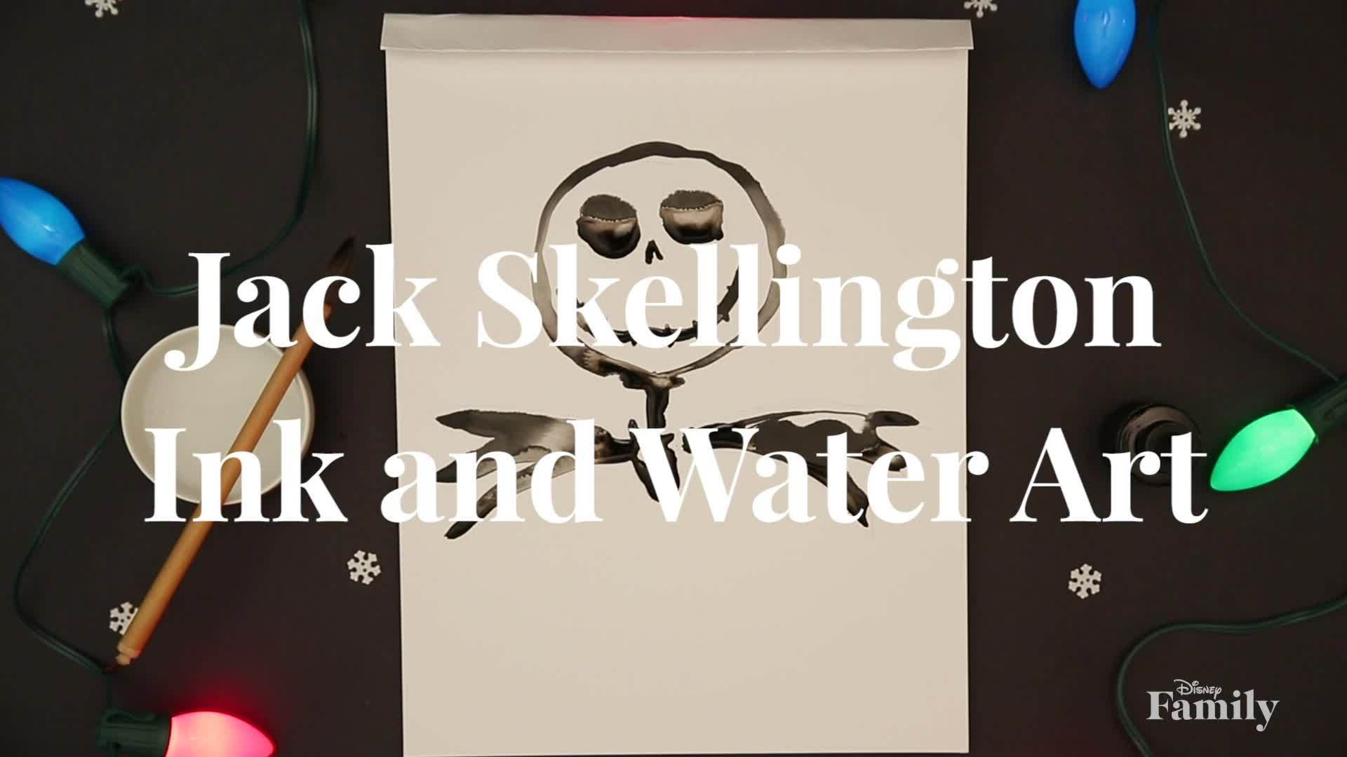Disney Family: Jack Skellington Water and Ink Painting