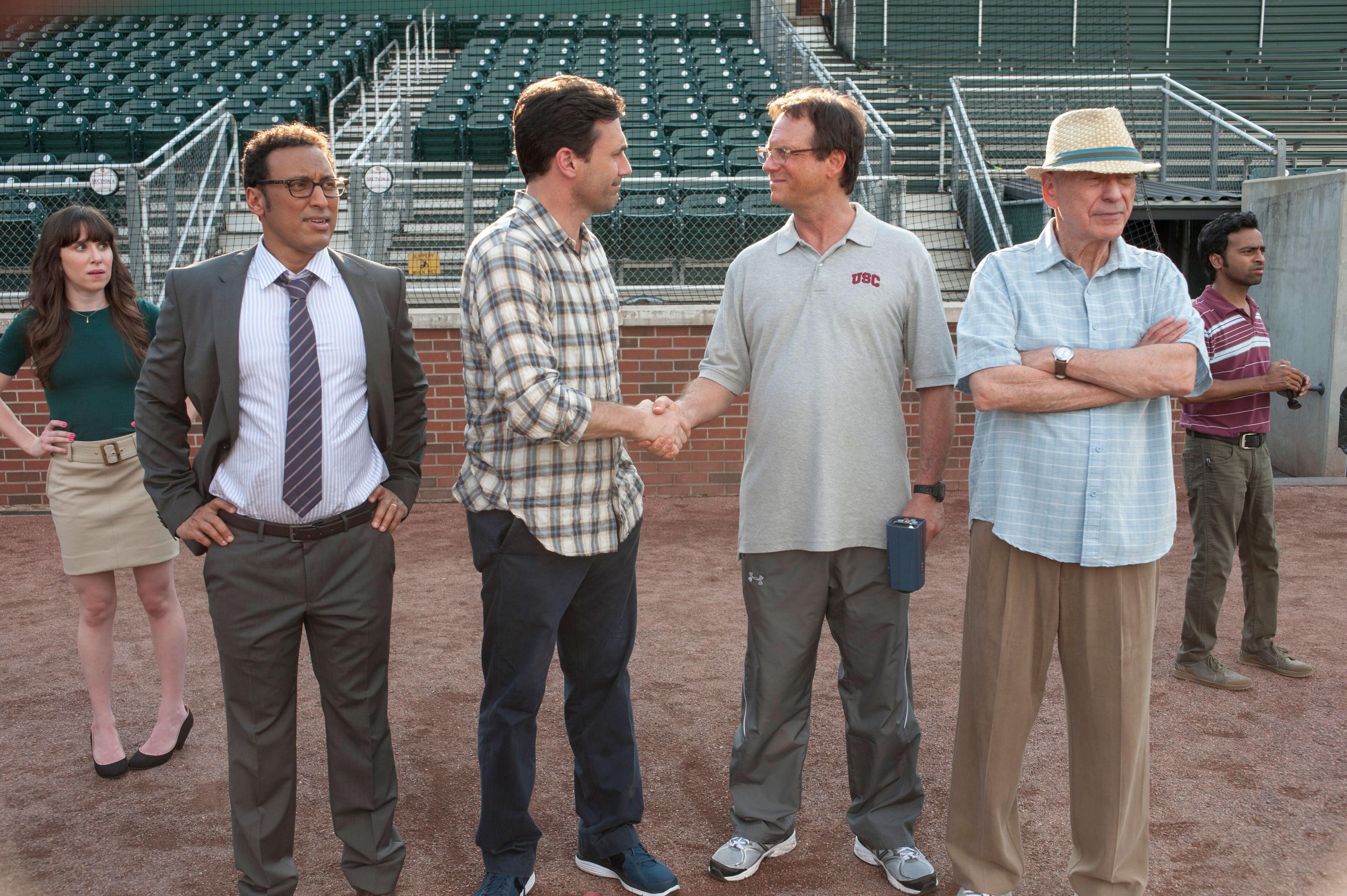 "Jon Hamm, Lake Bell, Bill Paxton and Aasif Mandvi in ""Million Dollar Arm"""