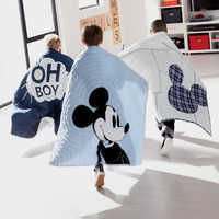 Image of Mickey Mouse Ticking Stripe Mickey Quilt by Ethan Allen # 4