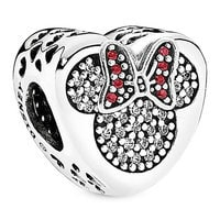 Mickey and Minnie Mouse Icon Heart Charm by PANDORA