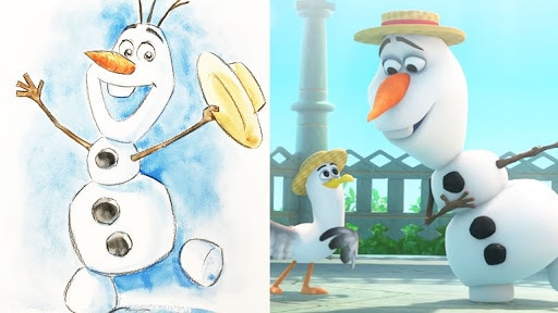 How To Draw Olaf from Disney's Frozen | Quick Draw