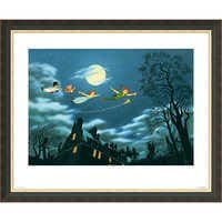 Image of Peter Pan ''And Away They Flew to Never Land'' Giclé # 2