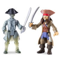 Jack Sparrow vs. Ghost Crewman Action Figure Set - Pirates of the Caribbean: Dead Men Tell No Tales - 3''