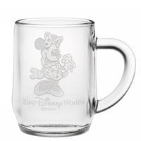 Minnie Mouse Glass Mug by Arribas - Personalizable