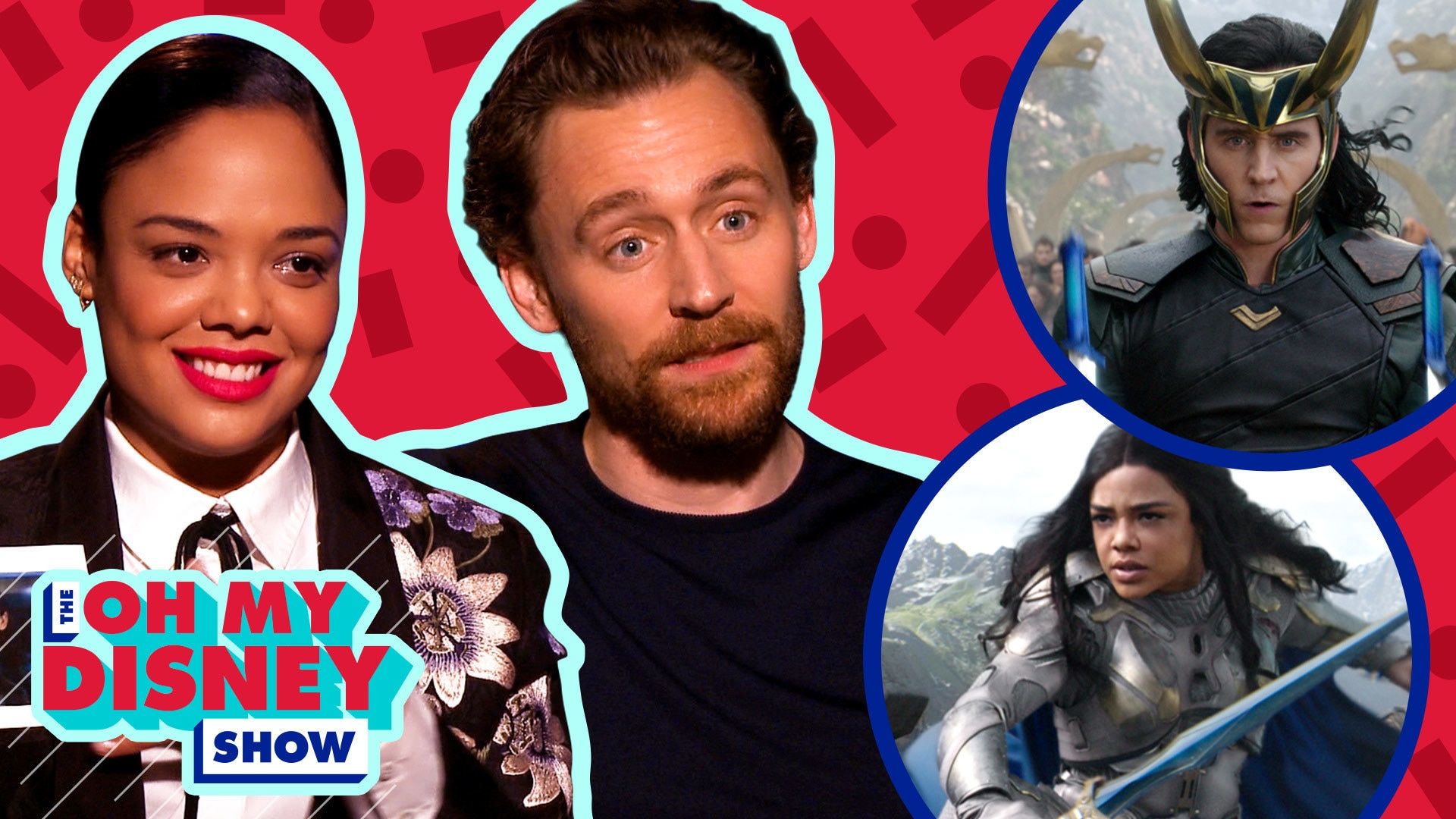 Tom Hiddleston and Tessa Thompson Play Loki or Low-key | Oh My Disney