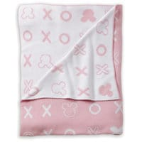 Mickey Mouse Hugs and Kisses Knit Stroller Blanket by Ethan Allen