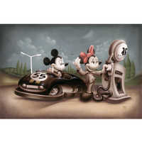 Image of Mickey Mouse and Minnie ''Service with a Smile'' Giclée by Noah # 1