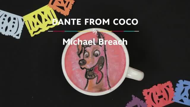 Latte Art: Dante from Coco | Oh My Disney