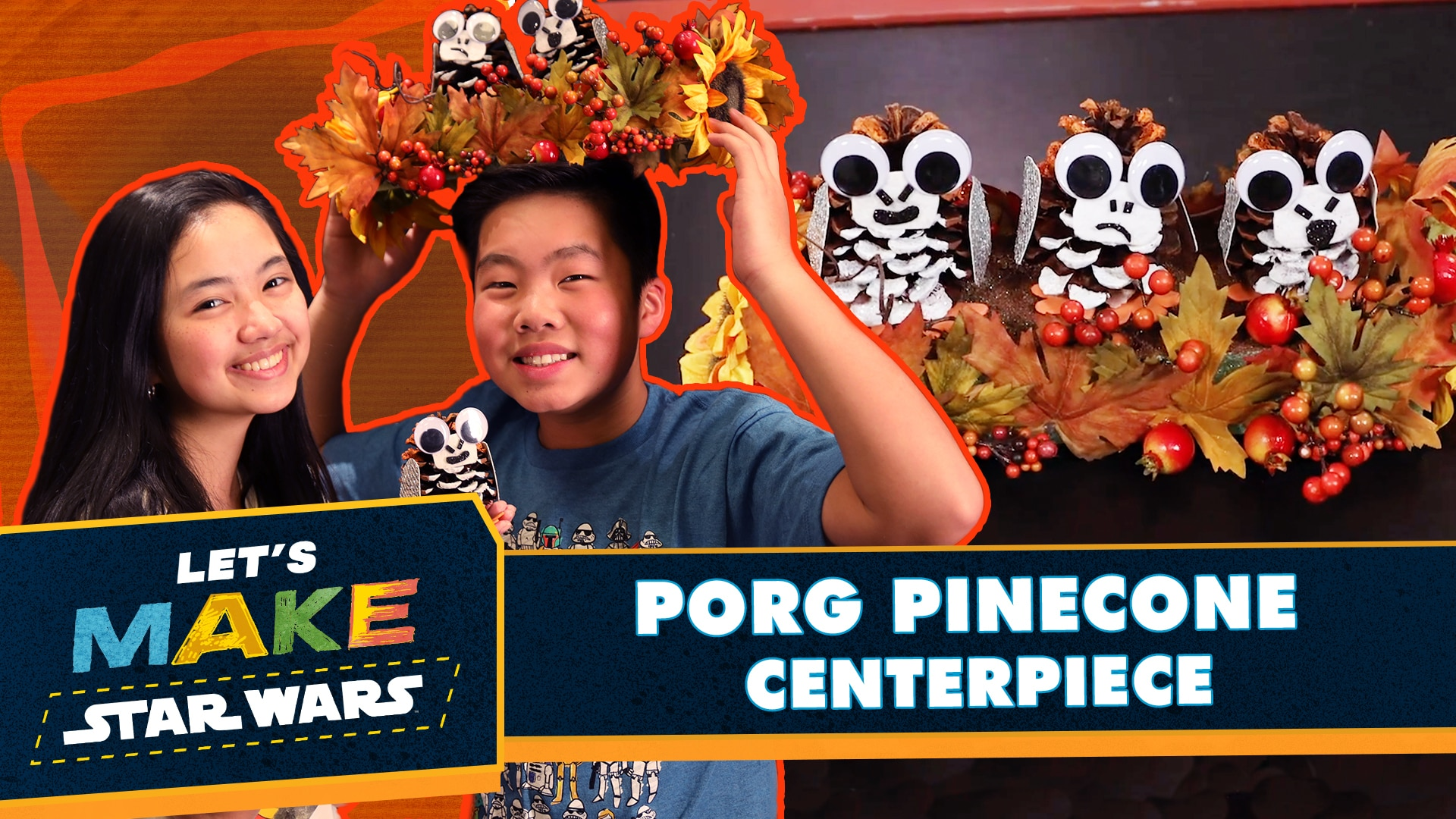 Let's Make Star Wars - How to Make a Porg Pinecone Centerpiece