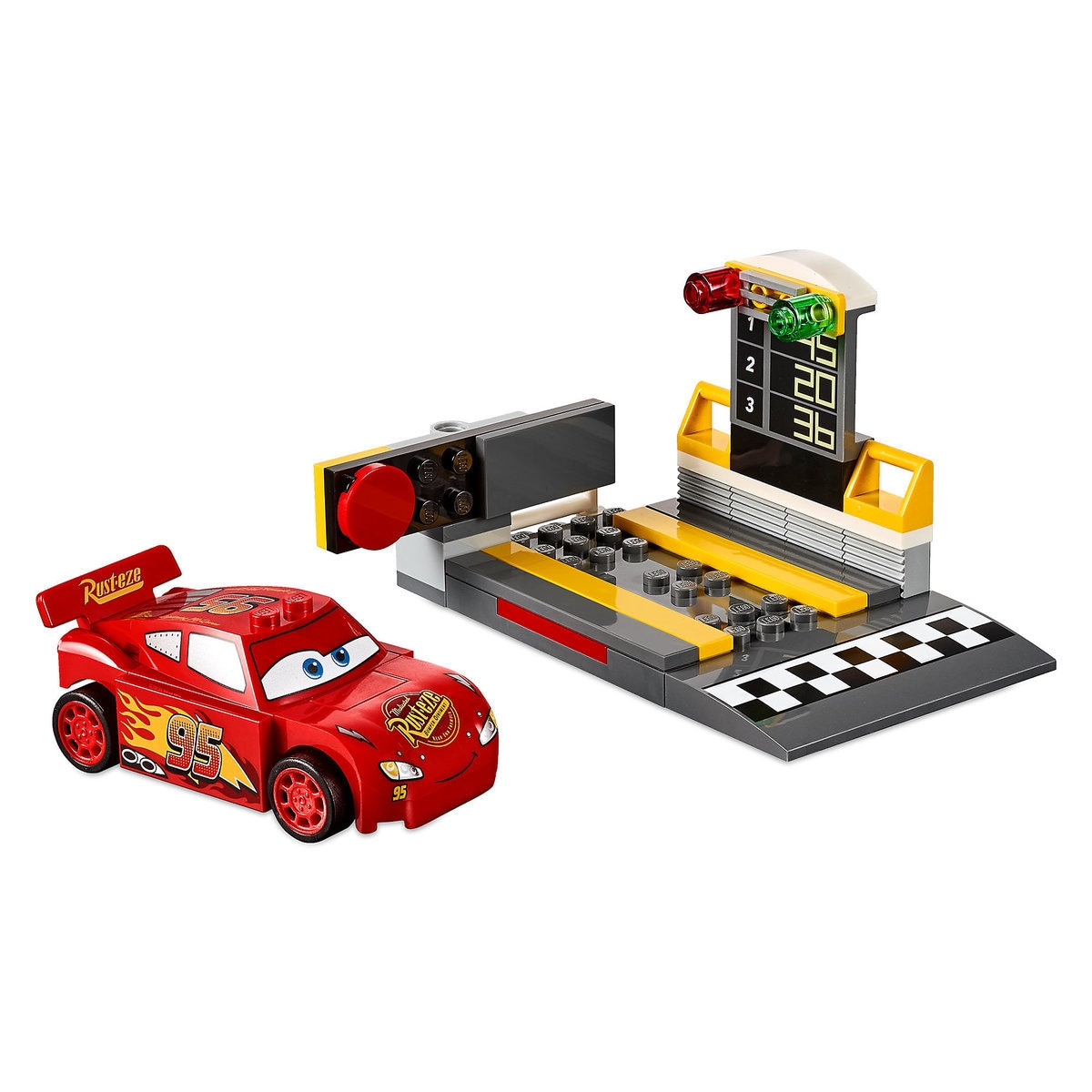 Product Image Of Lightning Mcqueen Sd Launcher Playset By Lego Juniors Cars 3 1