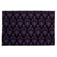 Image of The Haunted Mansion Wallpaper Placemat - Maroon # 2