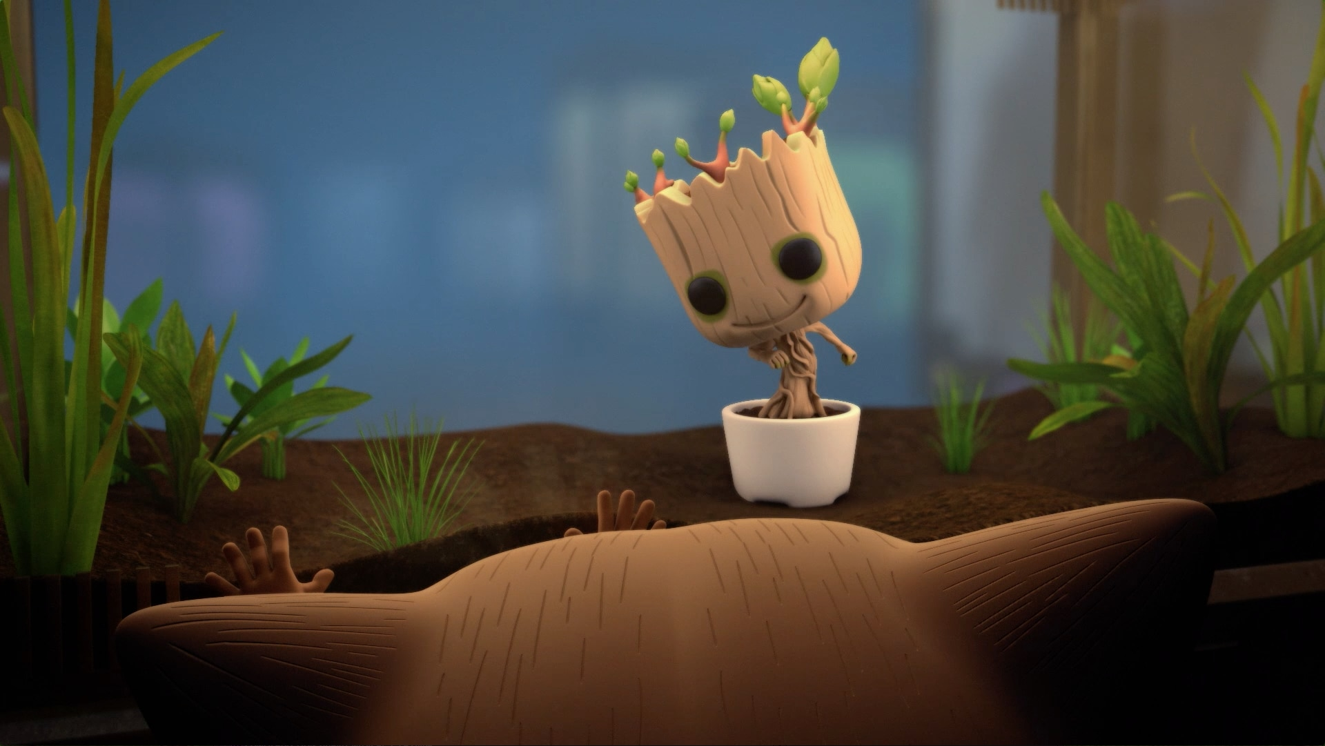 O resgate do Groot - Marvel Funko