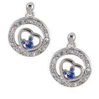 Mickey Mouse Blue Icon Earrings by Arribas