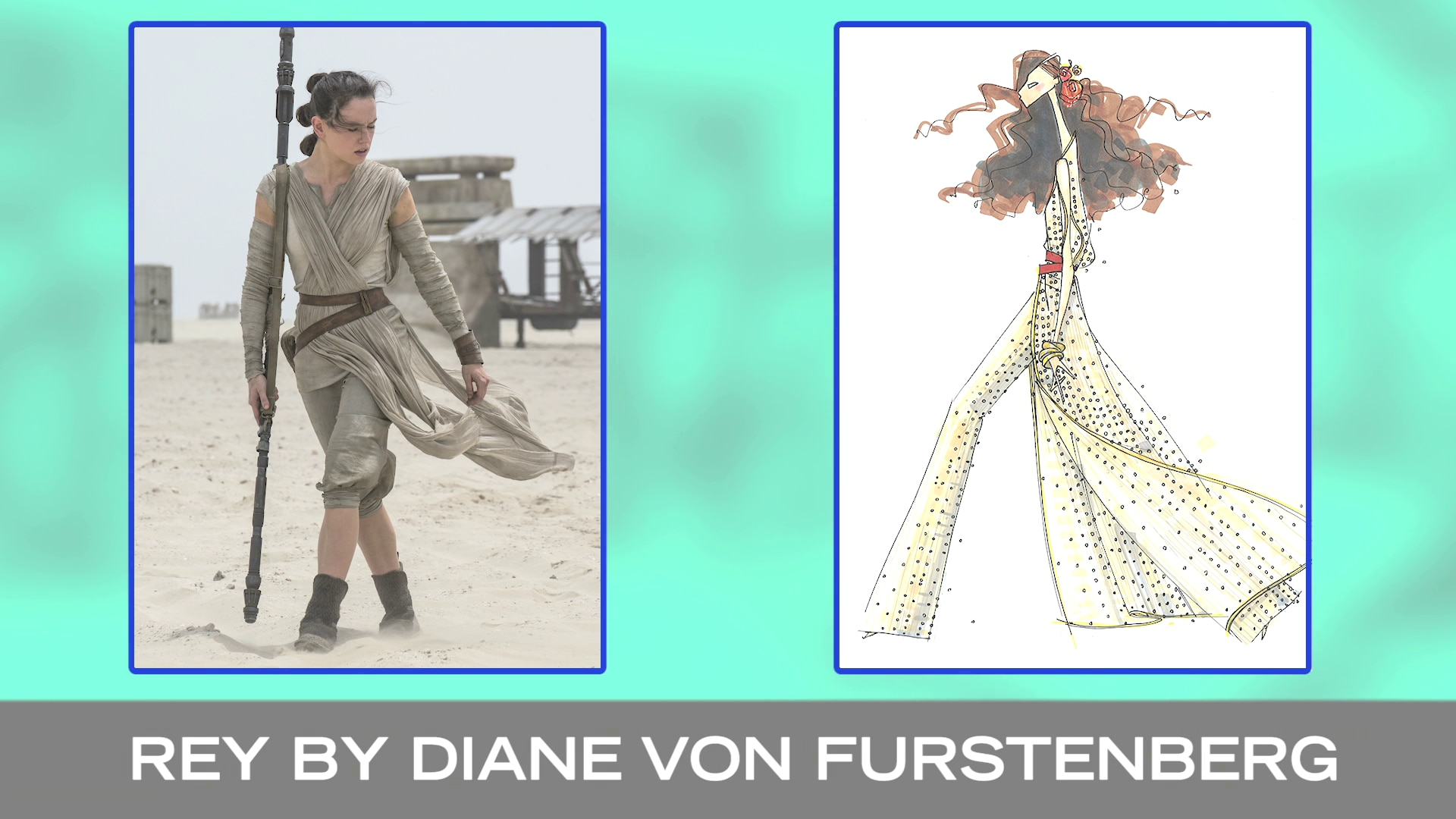 Fashion Sketches Inspired by Star Wars: The Force Awakens | Disney Style
