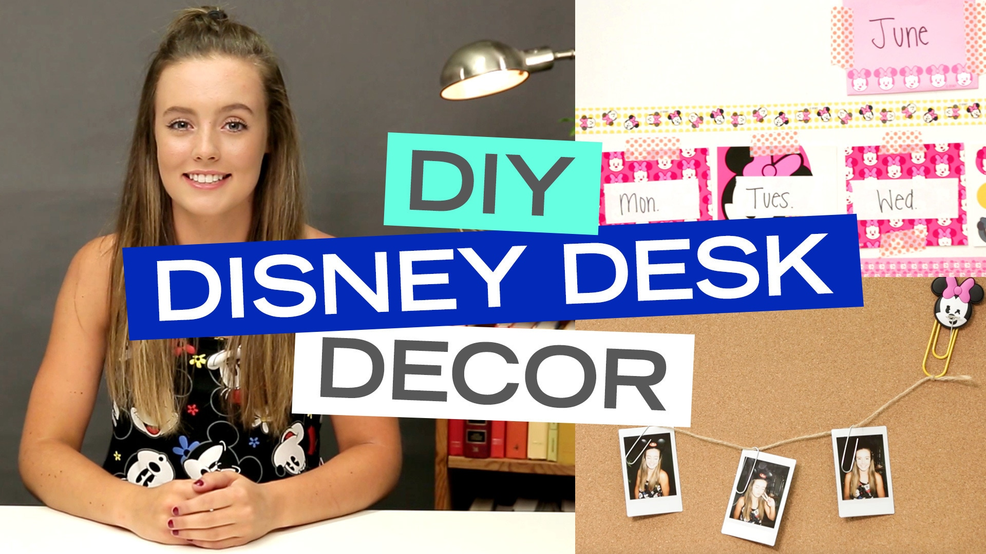 Disney Style: DIY Disney Desk Decor Ideas with Breezylynn