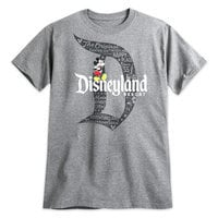 Mickey Mouse with Disneyland Logo Tee for Adults - Gray