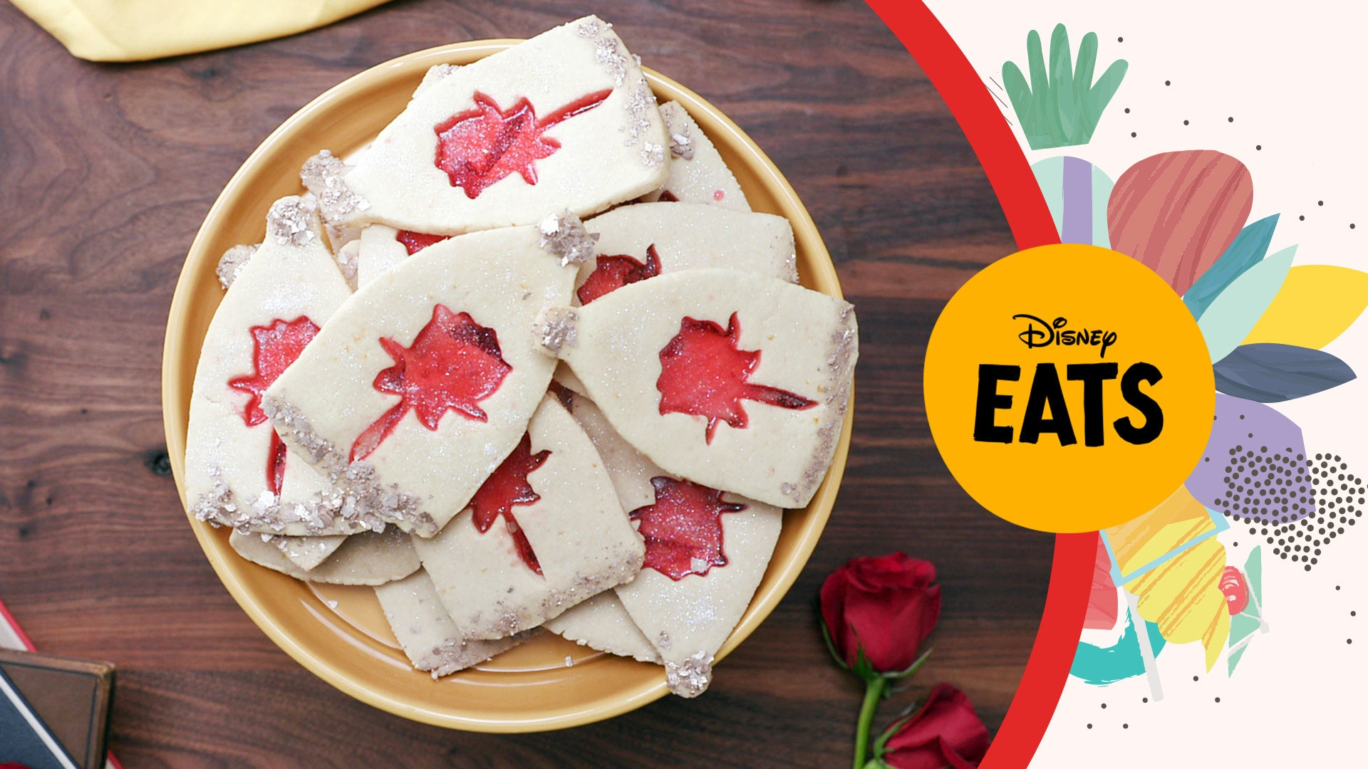 Enchanted Rose Stained Glass Cookies | Disney Eats x Tastemade