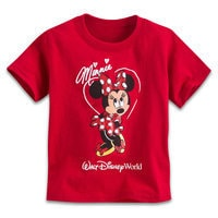 Image of Minnie Mouse Glitter Tee for Toddlers - Walt Disney World # 1