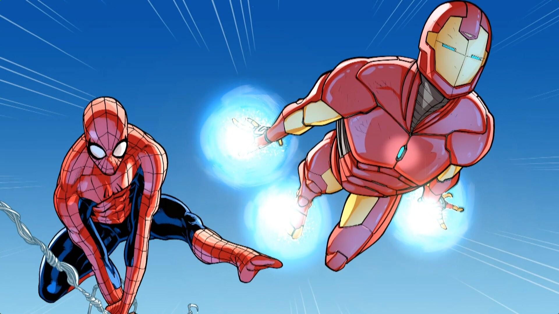 Homem-Aranha e Homem de Ferro - Dia de treinamento 1