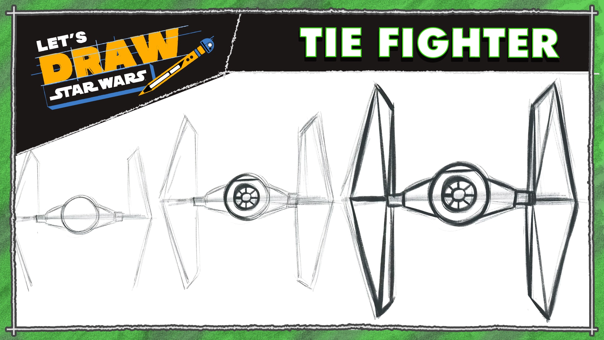 How to Draw a TIE Fighter | Let's Draw Star Wars