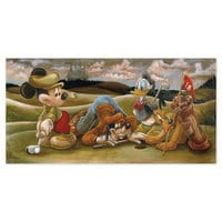 Image of Mickey Mouse and Friends ''On the 18th Green'' Giclée by Darren Wilson # 1