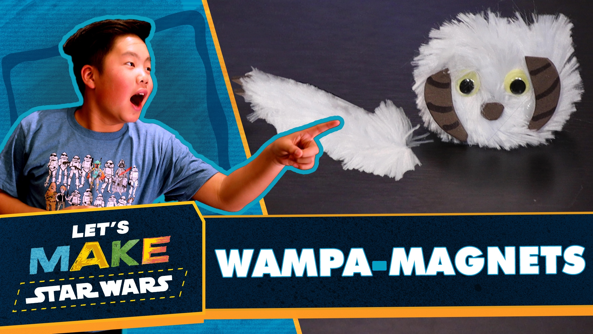 How to Make Star Wars Wampa Magnets | Let's Make Star Wars