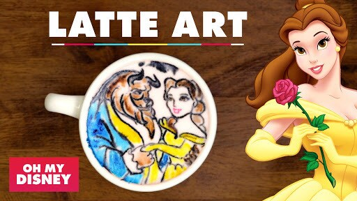 Latte Art: Beauty and the Beast   Sketchbook by Oh My Disney