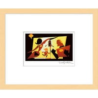 Image of ''The Incredible Family'' Framed Giclée on Paper by Teddy Newton - Limited Edition # 1
