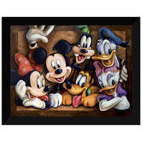 Image of Mickey Mouse ''The Gang'' Giclée by Darren Wilson # 5