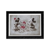 Image of Mickey and Minnie Mouse ''The Way to His Heart'' Giclée by Noah # 1
