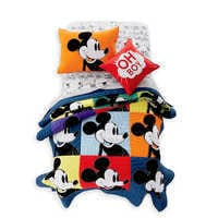 Image of Mickey Mouse Color Block Mickey Quilt by Ethan Allen # 2