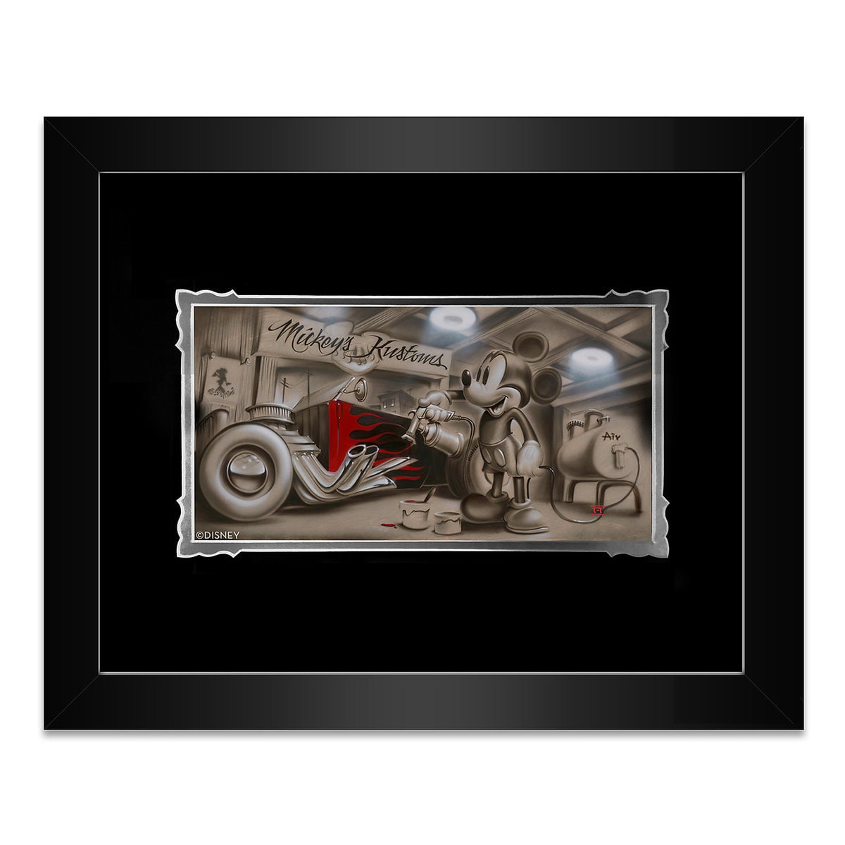 Mickey Mouse \'\'She\'s Gonna Be Pretty\'\' Framed Deluxe Print by Noah ...