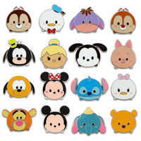 Image of Disney ''Tsum Tsum'' Mystery Pin Pack # 1