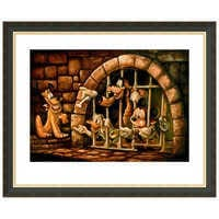 Image of Mickey Mouse Pirates of the Caribbean ''Here Poochie'' Giclée by Darren Wilson # 3