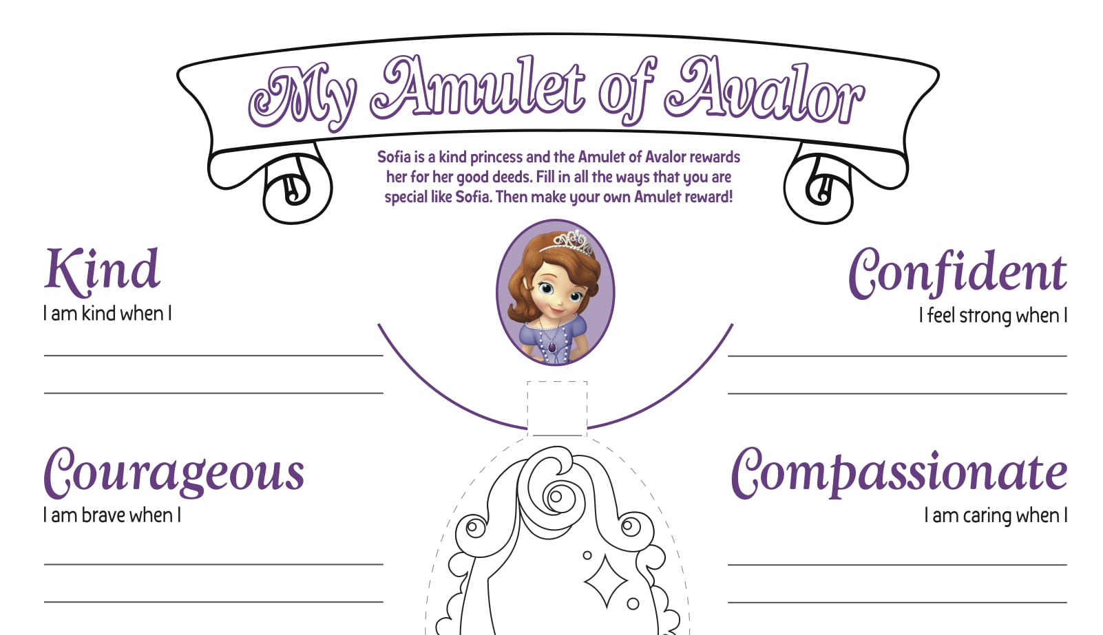 amber from sofia the first coloring pages disney junior
