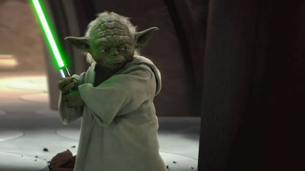 Star Wars - Yoda vs Grev Dooku