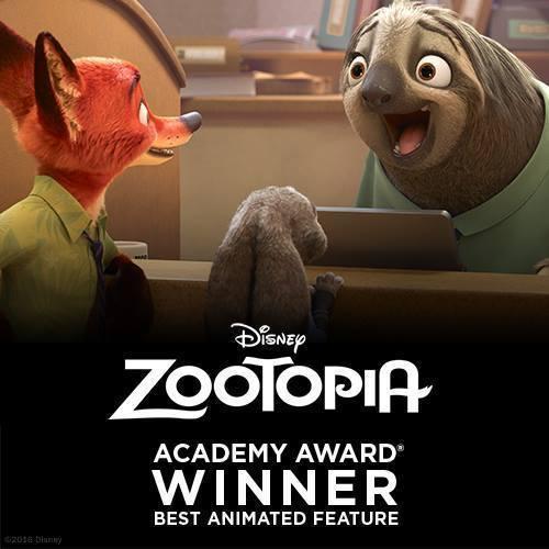 Studios - Academy Awards - Zootopia - Homepage - Stream AU