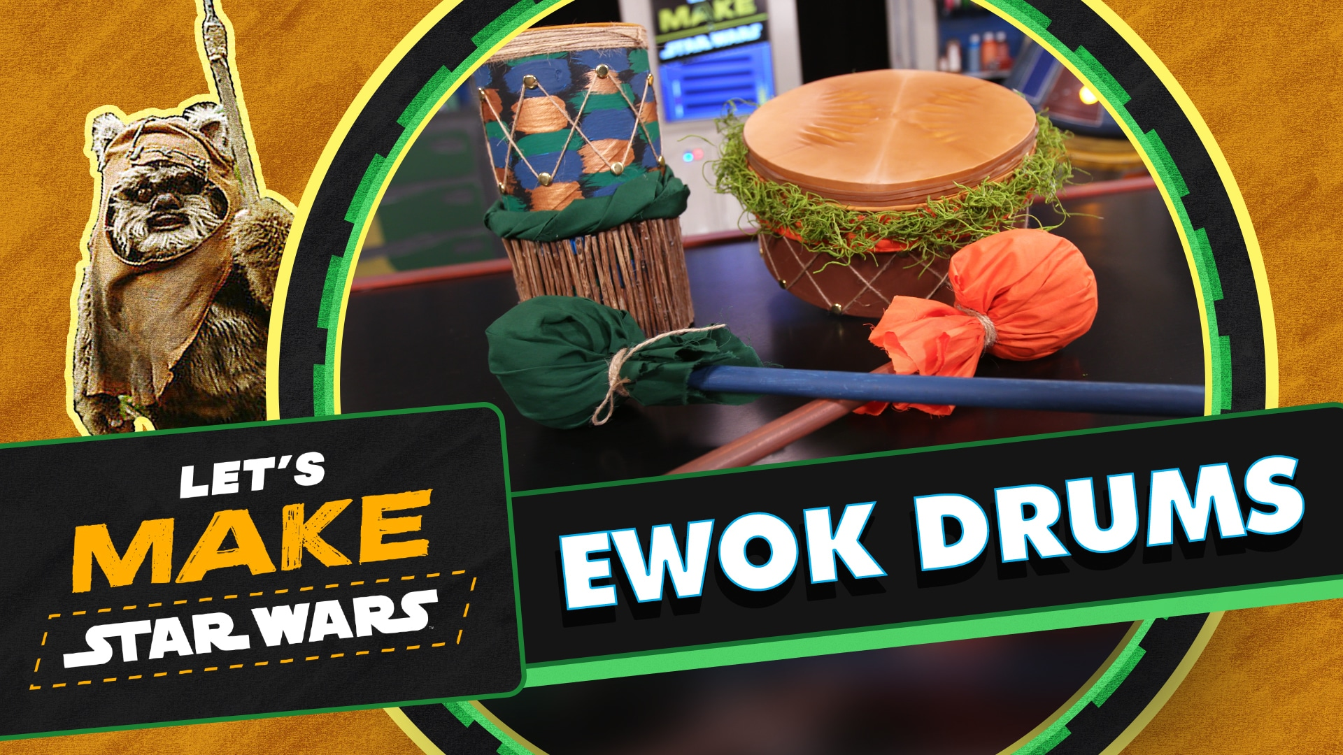 How to Make an Ewok Drum | Let's Make Star Wars