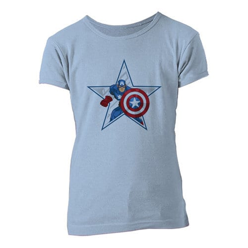 Captain America Star Tee for Girls - Customizable