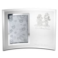 Mickey and Minnie Mouse Glass Frame by Arribas - Personalizable